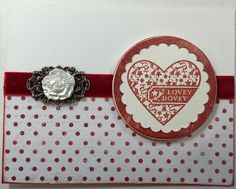 Stampin Up A little somethin': Lovey Dovey card with Stick it down sketch