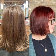 Natural red hair is breathtaking. It is a color that can't be replicated and makes short hair look stunning and unique. Although some of us aren't bor... Natural Red Hair, Natural Looks, Short Red Hair, Short Hair Styles, Hair A, Your Hair, Red Hairstyles, Sleek Bob, Red Balayage