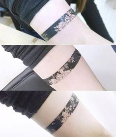 Floral armband tatto