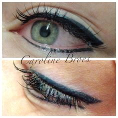 Eyeliner two colours :) immediately after and healed Natural Eyeliner, Permanent Eyeliner, Hair Ideas, Eye Makeup, Hair Beauty, Make Up, Colours, Cosmetics, Eyes