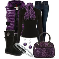 A touch of purple outfit.