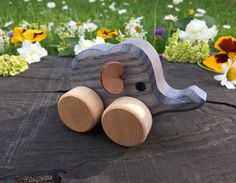 Small Wooden Toy Elephant, Kids gift, baby gift, Christmas gift, Birthday gift, Waldorf Toys