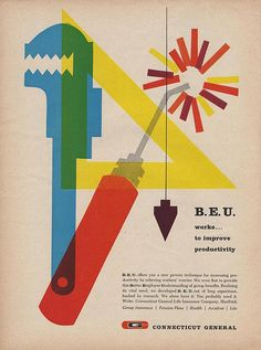 Connecticut General B.E.U. Ad: possibly designed by Robert Smith