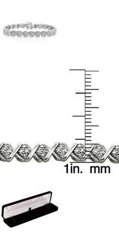 Diamond 10976: Womens 2.00 Diamond Bracelet With 14K White Gold Finish 7.5 Inches BUY IT NOW ONLY: $129.99