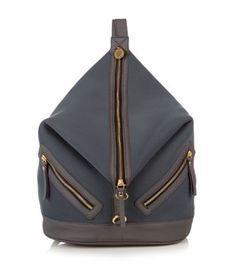 Friis and Co Black Neoprene Zip Front Backpack