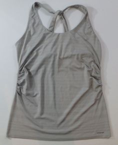 Women's Patagonia Nouli Tank Top Size XL Gray Platinum Yoga Athletic Shirt  #Patagonia #ShirtsTops