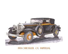 The 1931 Chrysler Imperial had evolved into a unique automobile, new for 1931, only 100 of the CG Imperial were made, the Le Baron body sat atop a 145-inch wheelbase chassis, and was styled to give a low-slung and rakish appearance, motivation was a 385 cubic-inch straight eight producing 125-horsepower, the powerful eight-cylinder engine, coupled with advanced steering and suspension geometry, and four wheel hydraulic brakes gave the Imperial surprisingly good road manners and 100mph…