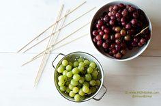 Frozen grape kabobs!