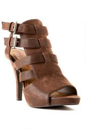 Pink and Pepper Shoes, Glinda Gladiator Heel in Brown