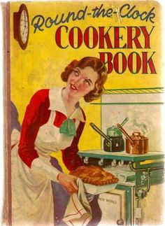 Vintage cookery book published in 1935 and compiled by Mrs Wise - published by Fleetway house.Contains traditional 'bero book' type recipes - some illusrations in brown & white ph. Retro Recipes, Old Recipes, Vintage Recipes, Cookbook Recipes, Cookbook Ideas, Recipies, Vintage Baking, Vintage Menu, Vintage Kitchen