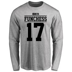 Devin Funchess Player Issued Long Sleeve T-Shirt - Ash