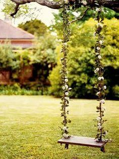 Um jardim para cuidar: Porque não um baloiço no jardim..