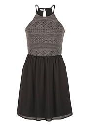 dress with high neckline and keyhole back - maurices.com