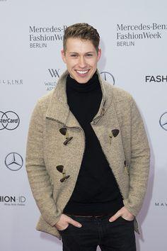 Sebastiano Schweitzer attends the Ewa Herzog show during the Mercedes-Benz Fashion Week Berlin Autumn/Winter 2016 at Brandenburg Gate on January 21, 2016 in Berlin, Germany.