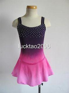 Short Sleeves Gorgeous Figure Skating Dress Ice Skating Dress 8103 size 12
