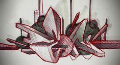TheHorror - rough by frazbot on DeviantArt Daim Graffiti, Graffiti Piece, Graffiti Artwork, Graffiti Drawing, Graffiti Painting, Graffiti Alphabet, Street Art Graffiti, Mural Art, Art Drawings