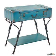 Mesa maleta vintage