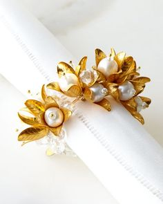 Pearl Garland Napkin Ring by JOSEPH WILLIAMS at Neiman Marcus.