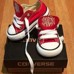 Monogram Toddler Converse Sneakers-Red – Monogram Eye Candy