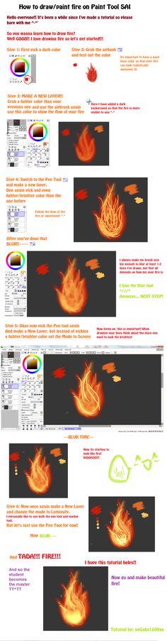Paint Tool SAI Fire Tutorial by xxGaby1699xx.deviantart.com on @deviantART