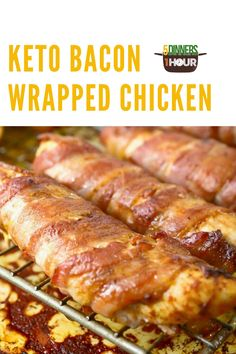 If you are looking for a recipe to fit in your keto diet and to satisfy that bacon craving, give this keto bacon wrapped chicken recipe a try! #chicken #bacon #keto #protein #dinner #recipe Bacon Wrapped Chicken, Chicken Bacon, Main Dishes, Side Dishes, Low Carb Recipes, Cooking Recipes, Quick Easy Dinner, Chicken Wraps, Easy Dinners