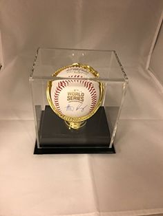 Anthony Rizzo Autographed Signed Chicago Cubs WORLD SERIES MLB Baseball With Display Case Included COA  Hologram * Check this awesome product by going to the link at the image.