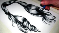 How to draw Realistic Hair really helpful :)
