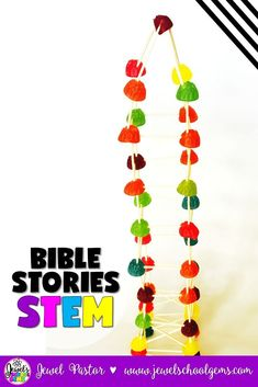 Bible Stories STEM Challenge (Tower of Babel Lesson and Activities) by Jewel's School Gems | Have you ever wondered if STEM and Bible stories can be combined? Well, the answer is YES. Try my Tower of Babel STEM Challenge and see how fun and engaging the study of Bible stories can be when combined with STEM! Perfect for Bible Camp, Sunday School, Homeschool and MORE. Click to learn more about it!