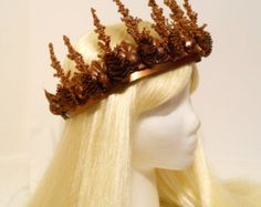 Copper & Gold Crown, Christmas, Holiday, Tiara, Princess, Queen, Woodland Fairy, Goddess, Fantasy, Headdress, Reign, Game of Thrones, Tribal