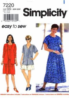 Simplicity 7220 Sewing Pattern Womens Top Dress Shorts Full Figure Plus Size 26 - 28 - 30 - 32 Simplicity http://www.amazon.com/dp/B0067PMGPE/ref=cm_sw_r_pi_dp_D7Q-ub1Q3QKRX