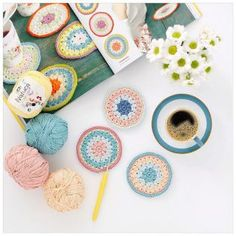 / My last projects! Crochet Home, Love Crochet, Learn To Crochet, Knit Crochet, Crochet Bunting, Crochet Doilies, Mandala Rug, Diy Coasters, Granny Square Blanket