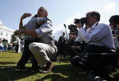 U.S. President Barack Obama consoles a crying boy who lost during his easter egg roll event during in the 135th annual Easter Egg Roll on the South Lawn of the White House in Washington, April 1, 2013. REUTERS/Jason Reed     (UNITED STATES - Tags: POLITICS SOCIETY)