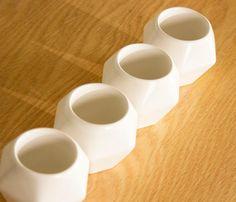 Set de 4 Tazas Diamante - Blanco - Accesorios - Muebles