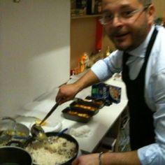 Il cuoco in azione