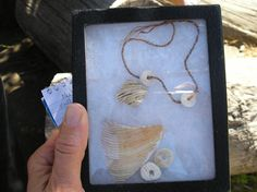 This is a replica of an Ohlone necklace of clamshell beads which were often used as money.
