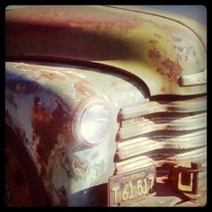I think old trucks are like old men, they get rusty, but keep on pluggin' along, carrying whatever they need to!!.