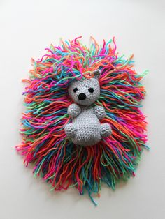 Hedgehog Punk Pattern from Crafting Alice Materials black, grey, rainbow yarn 3.0 mm crochet hook yarn needle fiberfill Abbreviations (U.S.) : slst - slip stitch st - stitch sc - single crochet dec -...