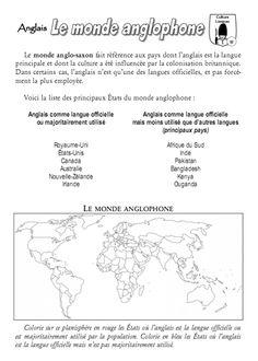 Fiche-mémoire sur le monde anglophone - Quoi de neuf ?
