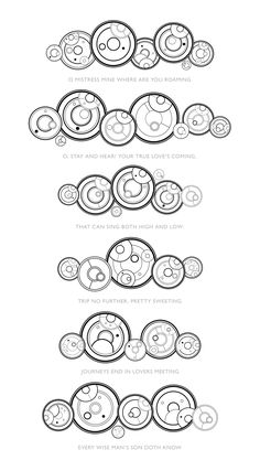 Gallifreyan Symbols | Mistress Mine by William Shakespeare