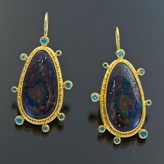 granulation 22kt gold boulder opal diamond tourmaline #opalsaustralia