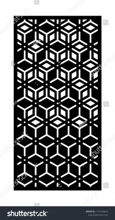 Panel for laser cutting. Vector template for carving of interior partition.