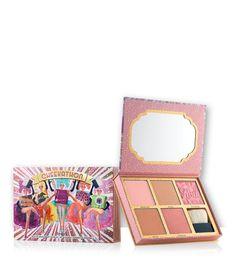 benefit cheekathon bronzer & blush palette - Dandelion, Hoola, Rockateur, Dallas & Coralista. Five full-size powderblushes in one palette. Want this!!!