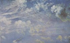 Spring clouds study, 1822, John Constable Size: 17.8x11.4 cm