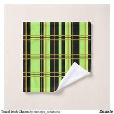 Towel Irish Charm Bath Towel Sets, Bath Towels, Business Supplies, Linens, Print Design, Irish, Bathrooms, Meditation, Art Pieces