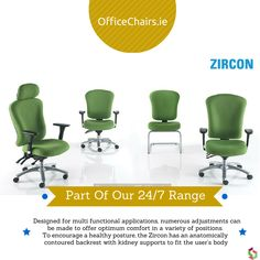 Zircon - Part of our 24/7 Chair Range #office #ergonomic