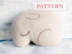 PATTERN for sleepy bunny rabbit pillow stuffed animal diy