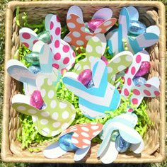 darling bunny party favors