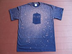 Custom Handmade Bleached TARDIS Doctor Who Galaxy T-shirt  Free Shipping until Oct 31st (In the US). $15.00, via Etsy.