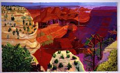 David Hockney, 9 Canvas Study of the Grand Canyon, 1998 on ArtStack #david-hockney #art