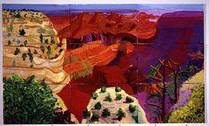 David Hockney, 9 Canvas Study of the Grand Canyon, 1998 on ArtStack #david-hockney #art